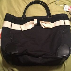 Kate Spade black bucket bag with bow